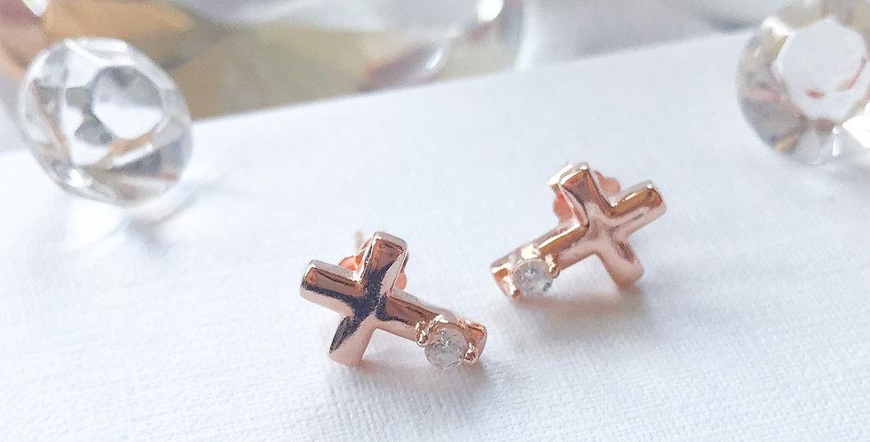 rosegold cross