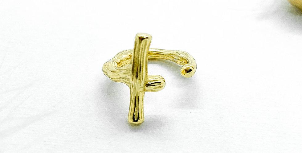 golden cross earcuff