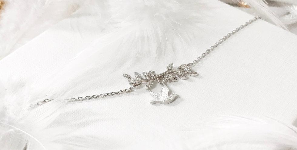 sparkling dove of peace bracelet
