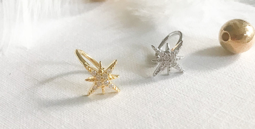 star of Betlehem Earcuff