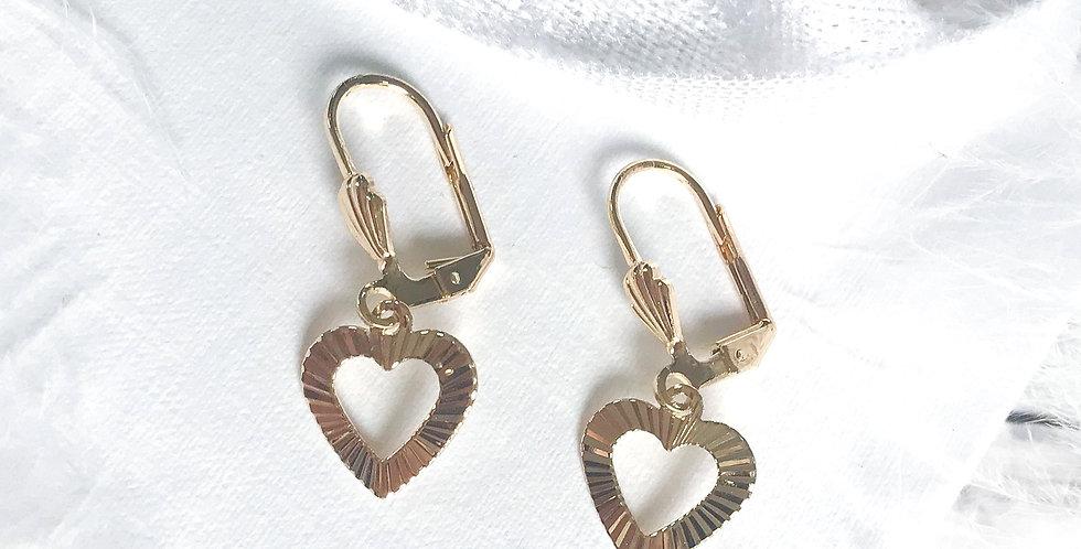 golden heart Earring