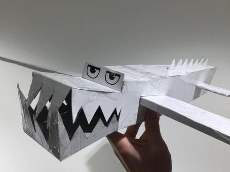 白ワニバイキン飛行機