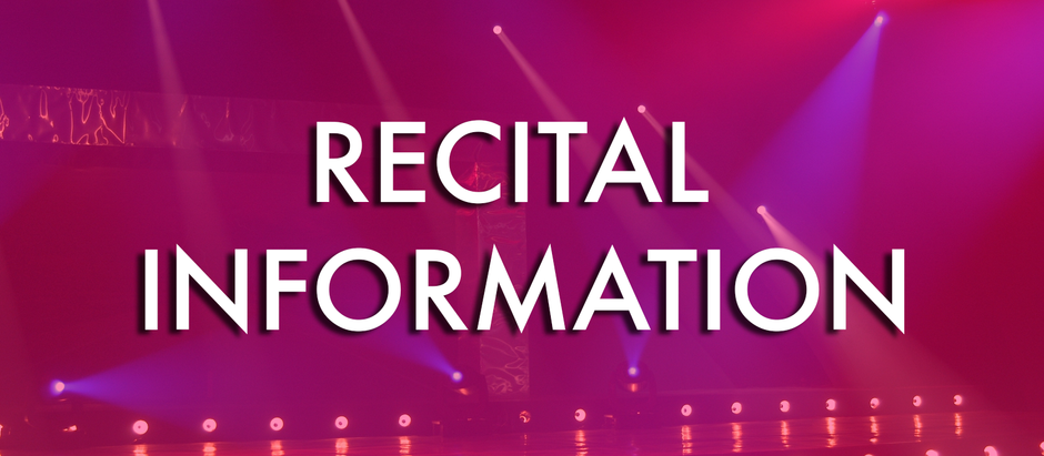 Recital Photo and Information!