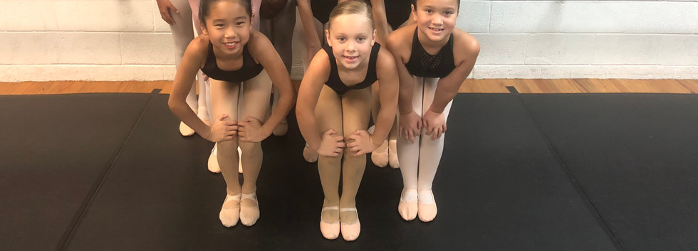 Academy of Dance Company members with visiting ballet teacher Theresa Crawford during Academy teacher training classes in August 2018.