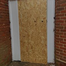Gate Boarded after Break-in