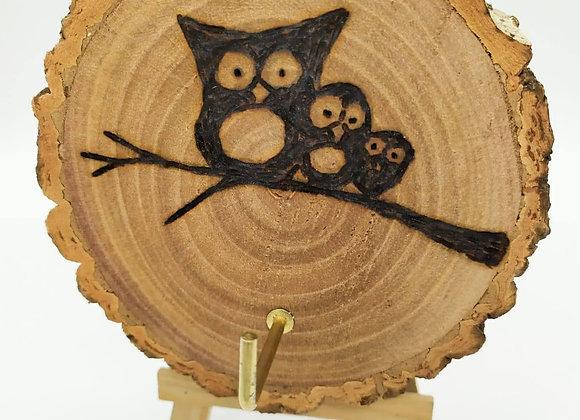 Owl Key Hook Pyrography