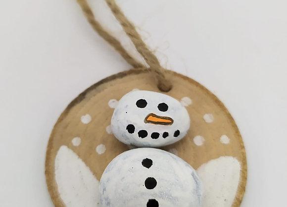 Painted pebble Christmas Decoration