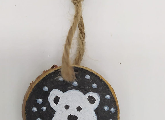 Painted Polar bear Christmas Decoration