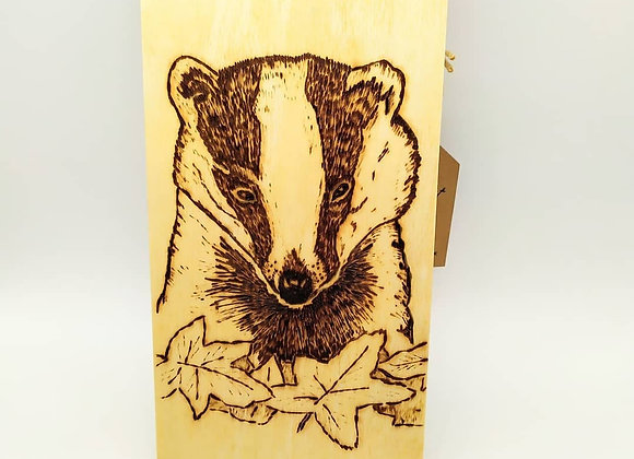 Badger Pyrography Door Hanger