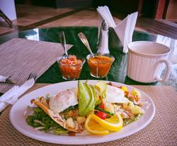 Delicious breakfast tostada