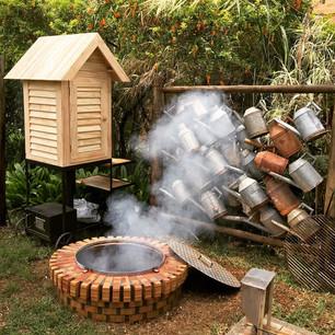 """Ужин """"Огонь и дым"""" в The Oberoi Mauritius на Маврикии"""