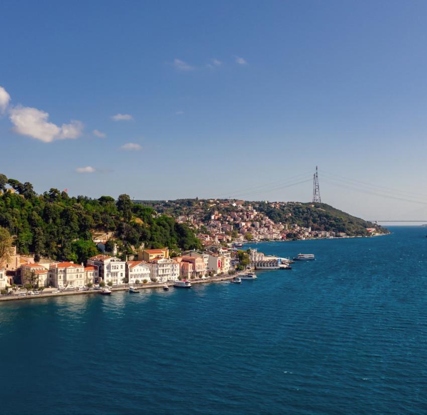 Aerial view of Bosphorus