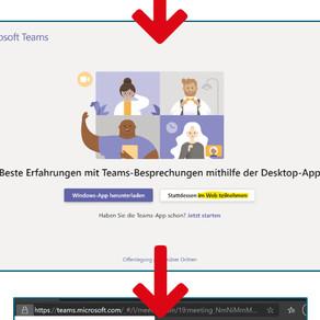 Teams für Online-Besprechungen