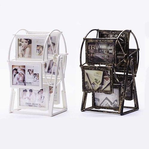 מסגרת לתמונה 12 תמונות בגלגל שולחני גדול מסתובב