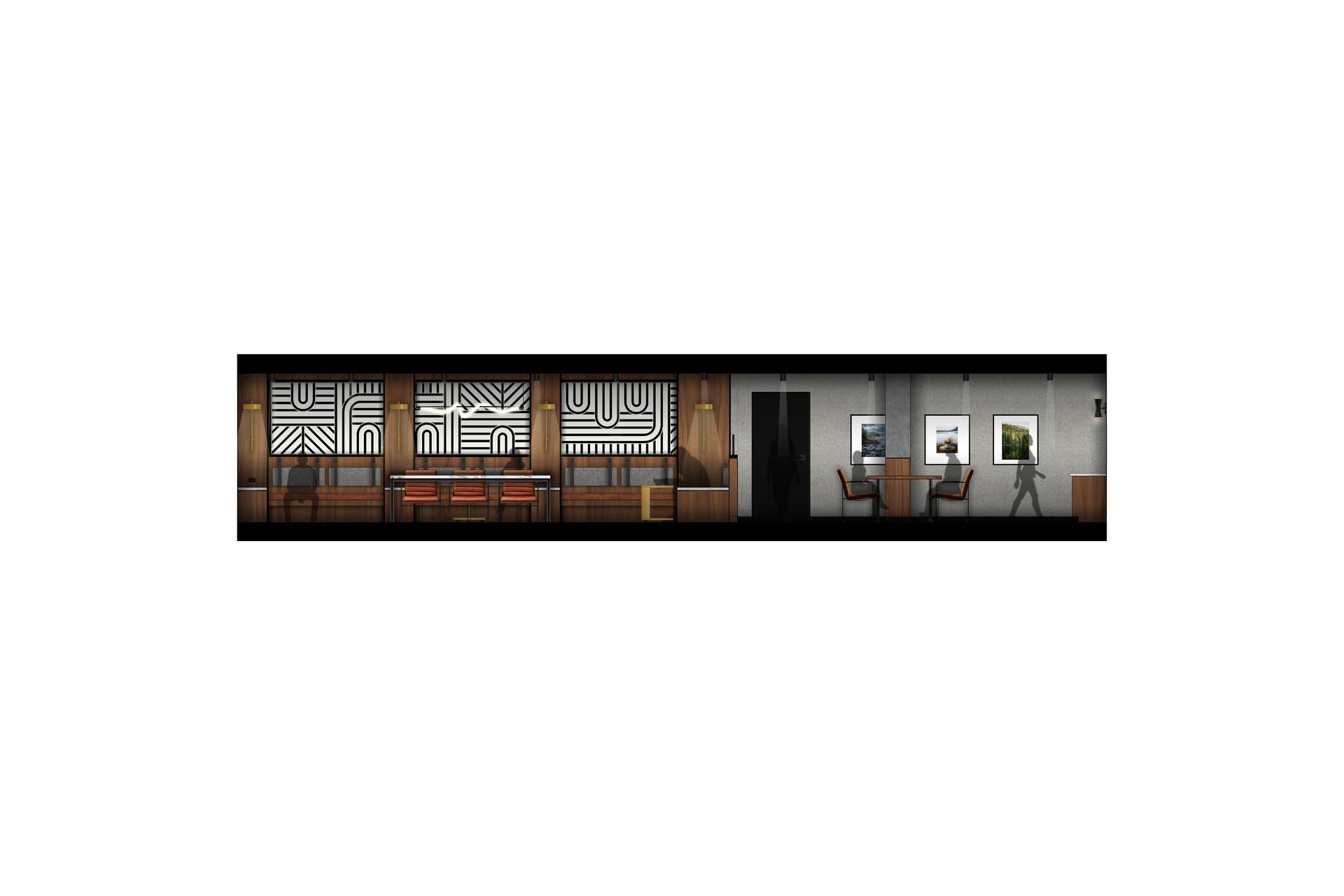LVL 2 Study Lounge Communal Table_Cognac