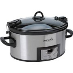 Crock-Pot 6-Quart Programmable Cook & Carry Slow Cooker, Stainless Steel,