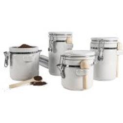 Anchor Hocking Ceramic 4 Piece Kitchen Canister Set