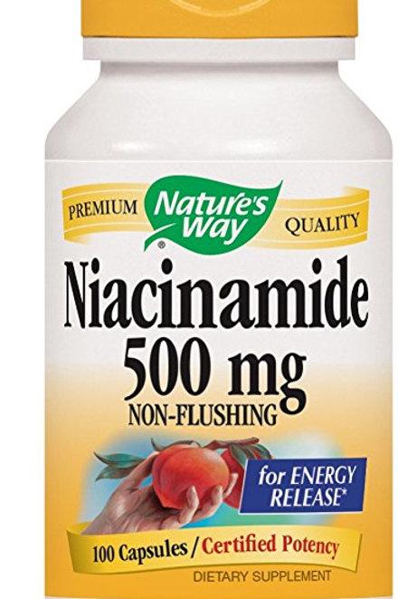Nature's Way Niacinamide, 100 Capsules (Pack of 3)
