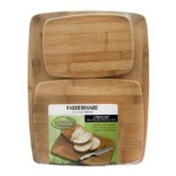 Farberware Classic Series Bamboo Cutting Board 3 Piece Set, 3.0 CT