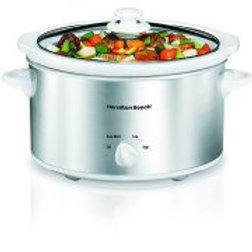Hamilton Beach 4 Quart Oval Kitchen Countertop Slow Cooker