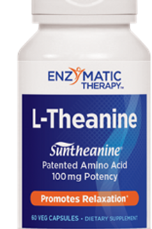 Enzymatic Therapy L-Theanine Vegetarian Capsules, 60 Count