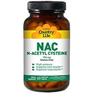 Country-Life,NAC 750 mg N-Acetyl Cysteine (60-Vegicaps)