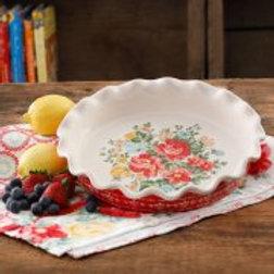 """The Pioneer Woman Vintage Floral 9"""" Pie Plate"""