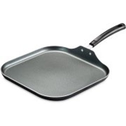 """Tramontina PrimaWare 11"""" Nonstick Square Griddle, Steel Gray"""