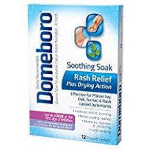 Domeboro Soothing Soak Rash Relief Powder Packets, 12 ea