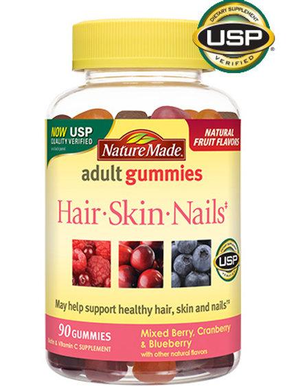 Hair Skin and Nails Adult Gummies