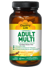 Country-Life,Chewable Adult's Multi (60-Tablet)