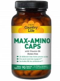 Country-Life, MAX-AMINO with Vitamin B-6