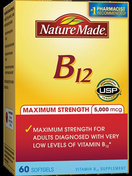 Maximum Strength Vitamin B12 Liquid Softgels