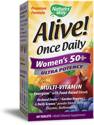 Nature's Way Alive! Once Daily Women's 50+ Multi-Vitamin, Ultra Potency, 60 Tabl