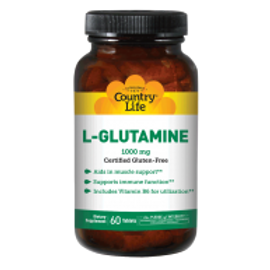 Country-Life, L-GLUTAMINE 1000 MG with Vitamin B-6