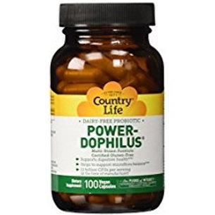 Country-Life,Dairy-Free Probiotic Power-Dophilus®(100-Vegicaps)