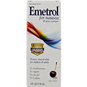 Emetrol, Cherry Liquid, 4 oz, Safe & Effective Nausea Relief  Emetrol
