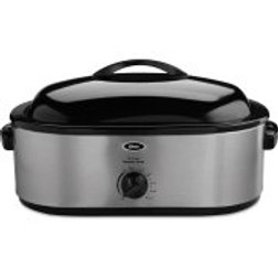 Oster 22-Pound Roaster Oven with Removable 3-Bin Buffet Server, 18-Quart, Stainl