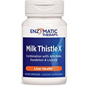Enzymatic Therapy Milk Thistle X, 60 Capsules