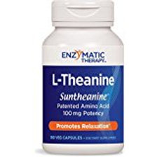Enzymatic Therapy L-Theanine Vegetarian Capsules, 180 Count