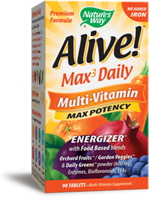 Nature's Way Alive! Max3 Daily (no iron added) 90 Tablets