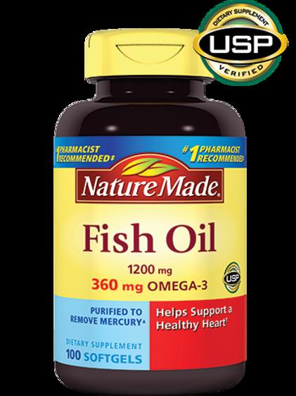 Fish Oil 1200 mg Liquid Softgels