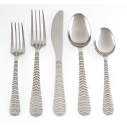 Cambridge Silversmiths Isadora 20-Piece Flatware Set