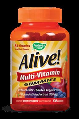 Nature's Way Alive! Multivitamin Gummies, Orchard Fruit and Garden Veggies 50 ea