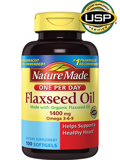 Flaxseed Oil 1400 mg Liquid Softgels