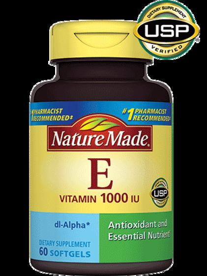 Vitamin E 1000 IU dl-Alpha Liquid Softgels
