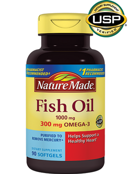 Fish Oil 1000 mg Liquid Softgels
