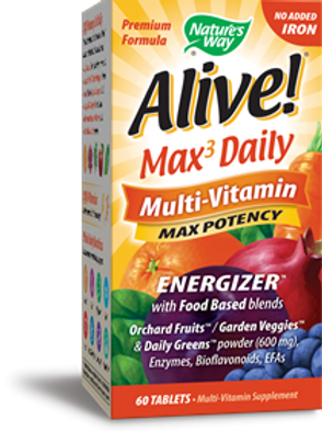 Nature's Way Alive! Max3 Daily (no iron added) 60 Tablets