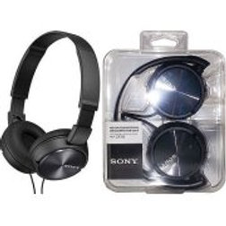 Sony MDR-ZX310-BLACK Wired Headphones with Lightweight Adjustable Headband and S