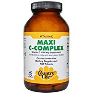 Country-Life, Maxi-C Complex Vitamin C 1000 mg